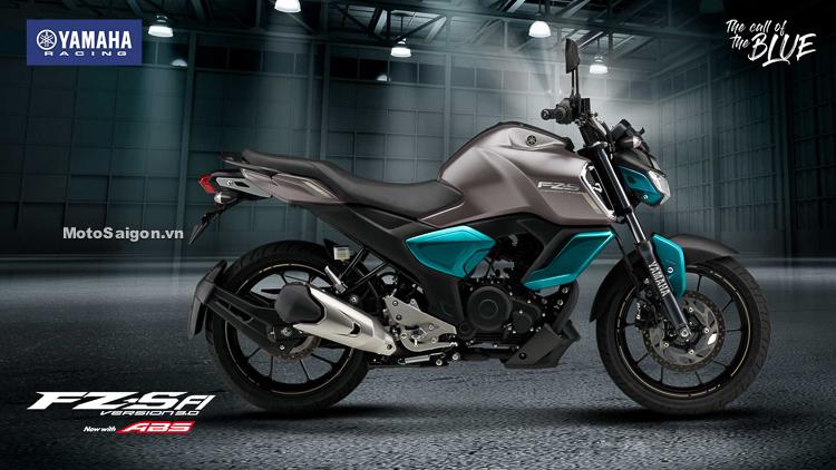 Yamaha FZ-S v3 2019 màu Xám xanh ngọc bích