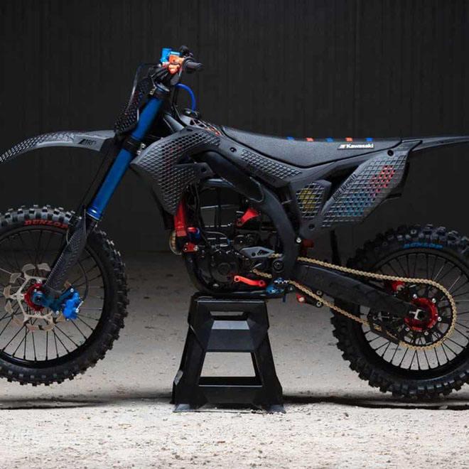 Cận cảnh chiếc mô tô địa hình Kawasaki KX 450 2019 bằng công nghệ in 3D Core - 1