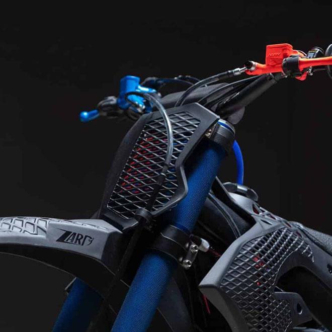 Cận cảnh chiếc mô tô địa hình Kawasaki KX 450 2019 bằng công nghệ in 3D Core - 3