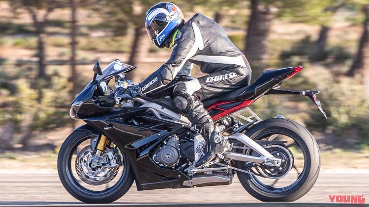 Lộ diện Triumph Daytona 765 2019 trên đường chạy thử tại Tây Ban Nha