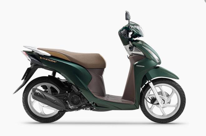 2019 Honda Vision ra hai màu mới, giá niêm yết 30,79 triệu đồng